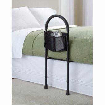 qSENIOR ราวเตียงพยุงตัวห้องนอน ช่วยลุก ที่กั้นที่นอนเตียง ราวกันตก โค้ง สำหรับผู้สูงอายุ ผู้ป่วย ผู้มีน้ำหนักมาก