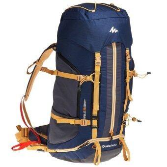 กระเป๋าเดินป่า กระเป๋าเป้ เป้สะพายหลัง กระเป๋าสะพายหลัง สำหรับ ท่องเที่ยว เดินป่า ปีนเขา การเดินทาง (สีน้ำเงิน/น้ำตาล) รุ่น FORCLAZ EASYFIT 50