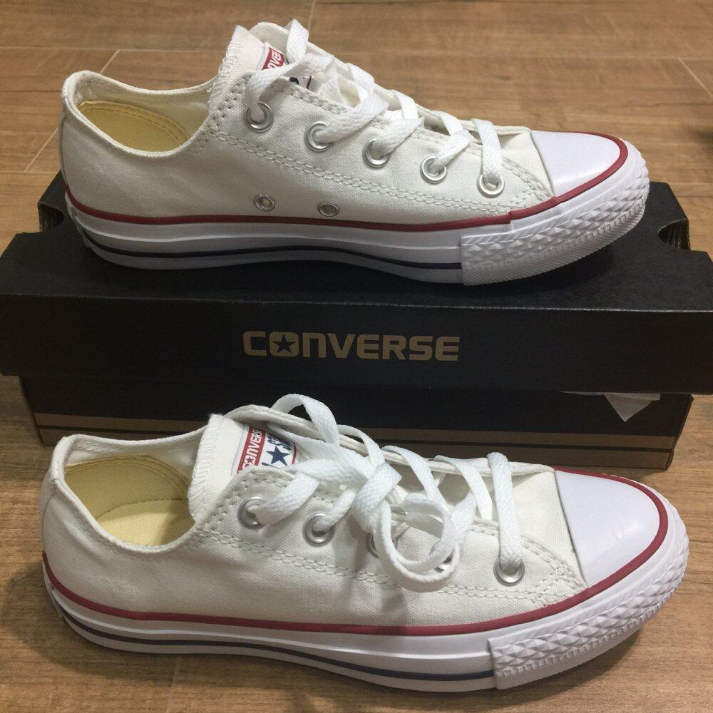 ยี่ห้อไหนดี  กาญจนบุรี รองเท้า Converse Chuck Taylor All Star Classic สีขาว Optical White