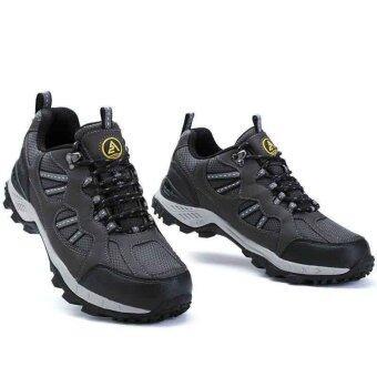 รองเท้าหนังแท้ Aquatwo กันน้ำอย่างดี สำหรับลุยป่า ปีนเขา รุ่น304 (สีเทา)