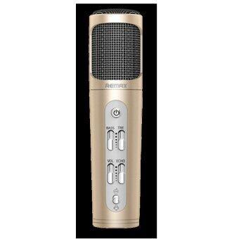 Remax Microphone Karaoke ไมโครโฟน ร้องเพลง คาราโอเกะ สำหรับ iPhone/Android รุ่น K02(Gold)