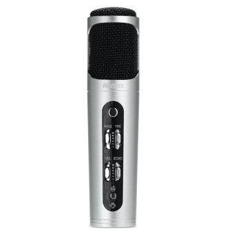 REMAX Microphone Karaoke ไมโครโฟน ร้องเพลง คาราโอเกะ สำหรับ iPhone/Android (Silver)
