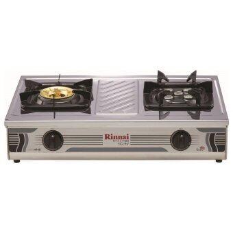 Rinnaiเตาแก๊ส หัวคู่แบบตั้งโต๊ะ รุ่น RT-711TBS