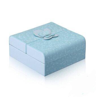 Room Story Jewelry Boxกล่องใส่เครื่องประดับรุ่นGrace Butterfly (สีฟ้า)