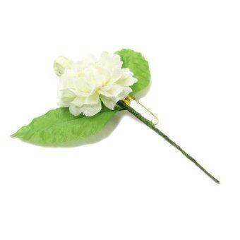 Rose Bee เข็มกลัดมะลิวันแม่ Handmade 100 ดอก