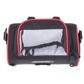 ROSWHEEL Cycling Bicycle Folding Bike Front Handlebar Bag Basket Transparent PVC Pouch for Map Outdoor