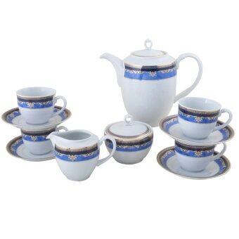 Royal Porcelain ชุดกาแฟ 13 ชิ้น - ลาย Blue Eminence