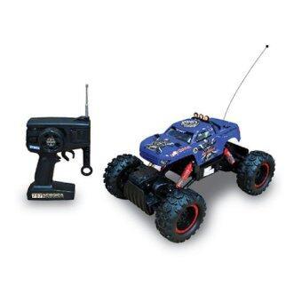 รถบิ๊กฟุต ไต่หินบังคับ Rock Crawler King 4WD 1:12 - (Blue)