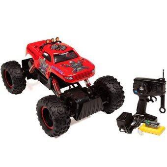รถบิ๊กฟุตบังคับวิทยุ Rock Crawler King 4WD 1:12 (สีแดง)