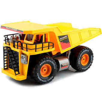 รถดั้มบรรทุก บังคับวิทยุ Dump Truck สเกล 1:10 SL017 - เหลือง