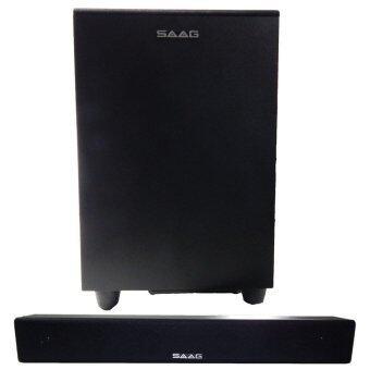 SAAG ลำโพง SOUND BAR 2.1 (Black)
