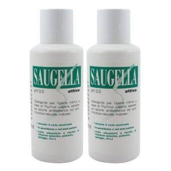 Saugella Attiva 250 ml สูตรสีเขียว ปกป้องเป็น 2 เท่า (2 ขวด)