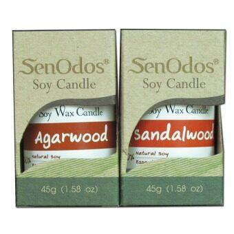 SenOdos ชุดของขวัญ sunny rainy เทียนหอมอโรม่า เทียนหอมระเหย กลิ่นไม้หอม45g x2กลิ่น