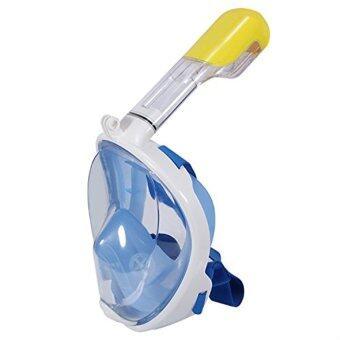 Siam trend หน้ากากดำน้ำด้วยท่อหายใจ หน้ากากดำน้ำตื้น Super Snorkel แบบมีฐานติดกล้อง Gopro รุ่น DP01N ( สีฟ้า)