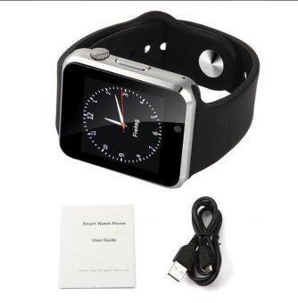 สีดํา นาฬิกาข้อมืออัจฉริยะ 2016 Smart Watch A1 W8 With Sim Card Camera Bluetooth Smartwatch ios android