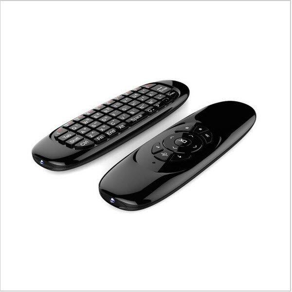 ยี่ห้อนี้ดีไหม  กระบี่ Smart Android TV Box C120 Air Mouse Smart android box 2.4 G Wireless Mini Keyboard (Black)
