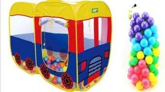 smartbabyandkid เต็นท์รถบัส+ลูกบอล2.8\APEX 100ลูก