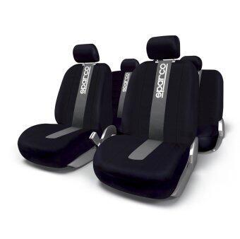 HC Sparco ผ้าหุ้มเบาะ รุ่น SPC1012 - สีดำ/เทา (ชุด 4 ชิ้น)
