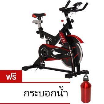 SPIN BIKE จักรยานออกกำลังกาย Exercise Fitness Spin Bike ระบบสายพาน รุ่น Falcon (สีดำ) ฟรี กระบอกน้ำสแตนเลส