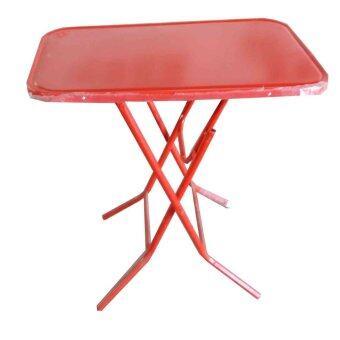 SPK Shop โต๊ะพับขาเหล็ก3 ฟุต รุ่น หน้าเหล็ก (สีแดง)