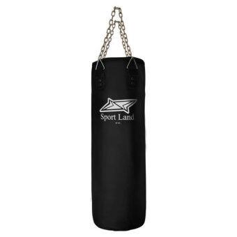 SPORTLAND กระสอบ หนัง PU Punching Bag 1 Lining SPL รุ่น SP095 - Black (พร้อมอัดกระสอบ)