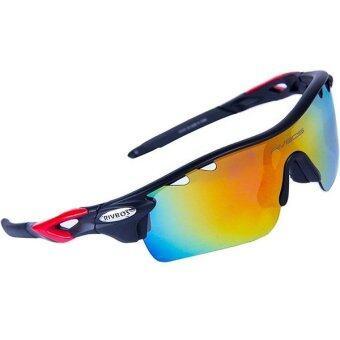 SportLifeOnline แว่นตากันแดด นักปั่นจักรยาน เสือภูเขา ปีนเขา รุ่น RB0801 - Black