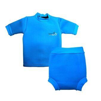 SwimFly Wetsuit for Kids ชุดว่ายน้ำกันหนาว ชุดว่ายน้ำรักษาอุณหภูมิ สำหรับเด็กเล็ก (สีฟ้า)