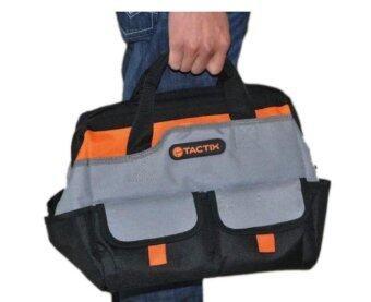 Tactix 323145 กระเป๋าเครื่องมือช่าง 30.50 x 25.40 x 28.00 cm. - สีดำ/สีส้ม