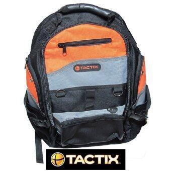 Mustme Tactix รุ่น 323147 กระเป๋าเป้สำหรับใส่เครื่องมือและอุปกรณ์ช่าง (ผ้าสีดำ/สีส้ม)