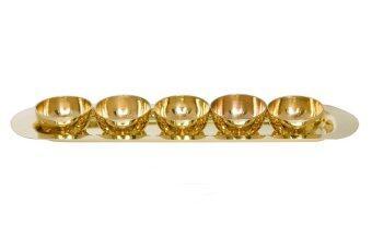 Thai Bronze ชุดถวายอาหารพระพุทธทองเหลือง รุ่นถาดยาว - สีทอง
