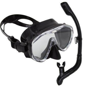 The new 2016 whales brand Scuba Diving Snorkeling Freediving Mask Snorkel Set and swimming goggles or snorkel (Intl)