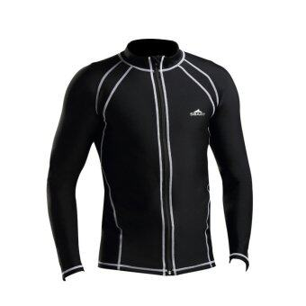 The New Outdoor Diving gear long sleeve warm male diving suits Surfing is prevented bask in a bathing suit jellyfish dress Snorkeling (Black)