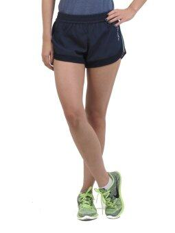 Training Lab Women's TL Running Shorts 2/1 Navy กางเกงขาสั้นแบบมีซับในกระชับกล้ามเนื้อ Training Lab