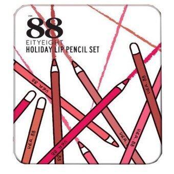 Ver.88 HOLIDAY LIP PENCIL SETเวอร์.88 ฮอลิเดย์ ลิป เพนซิล เซต ลิปสีไม้