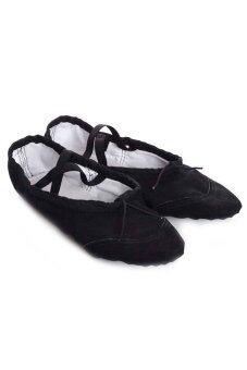 Women's Canvas Ballet Slipper/Shoe Black - Intl