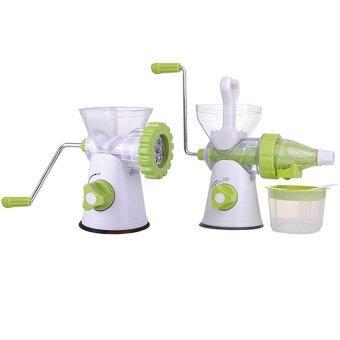 WORK Manual Mixer Multifuction เครื่องแยกกาก คั้น/ปั่นน้ำผัก + คั้น/ปั่นน้ำผลไม้ และเครื่องบดเนื้อ บดพริก แบบมือหมุน Mixer-01 (สีเขียว)