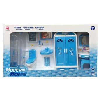 Worktoys ชุดห้องน้ำบาร์บี้ พร้อมอุปกรณ์ (สีฟ้า)