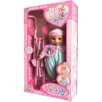 Worktoys รถเข็นตุ๊กตา ตุ๊กตาเด็ก มีเสียง ล้อมีไฟ