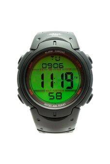 World Time นาฬิกาข้อมือสปอร์ตดิจิตอล (สีดำ)