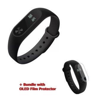 Xiaomi Mi Band 2 สายรัดข้อมืออัจฉริยะ bracelet OLED with Heart rate Sensor Smart Bluetooth Wristband แถมฟิลม์กันลอยใส (Black)