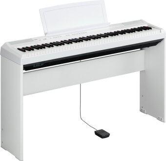 Yamaha เปียโนไฟฟ้า 88 คีย์ รุ่น P-105 สี White พร้อมขาตั้ง อแดปเตอร์ เก้าอี้