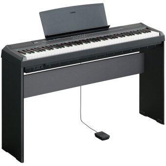 YAMAHA เปียโน ดิจิตอล Digital Piano P-115 พร้อมขาตั้ง ที่วางโน๊ต (Black)