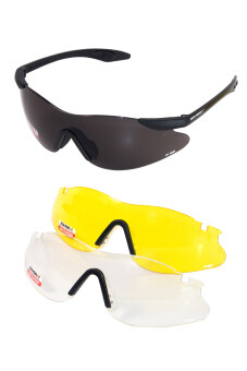 Zeen Perfect แว่นตากันแดด 3 เลนส์ รุ่น ZP14 - Black