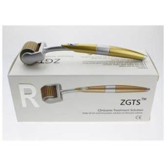ZGTS Titanium Dermaroller เข็มกลิ้ง รักษาหลุมสิว เดอร์มาโรลเลอร์ from France Microneedle Roller หัวเข็ม 2.0 (Gold)