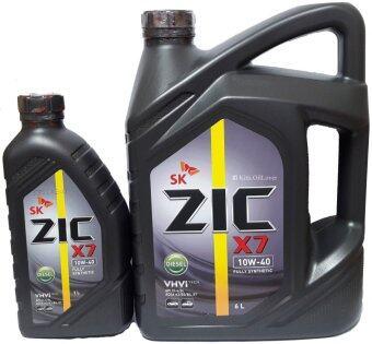 Zic X7 DIESEL SAE 10W-40นํ้ามันหล่อลื่นเครื่องยนต์ดีเซล สูตรสังเคราะห์แท้100% (6ลิตร+ฟรี1ลิตร)