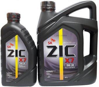 ZIC X7 SAE 5W-30 นํ้ามันหล่อลื่นเครื่องยนต์เบนซิน สูตรสังเคราะห์แท้ 100% (4 ลิตร + ฟรี 1 ลิตร)