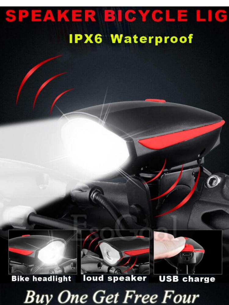 2Pcs//set Bike Bicycle Cycling Head Front Rear Tail LED Light Warning Lamp USB