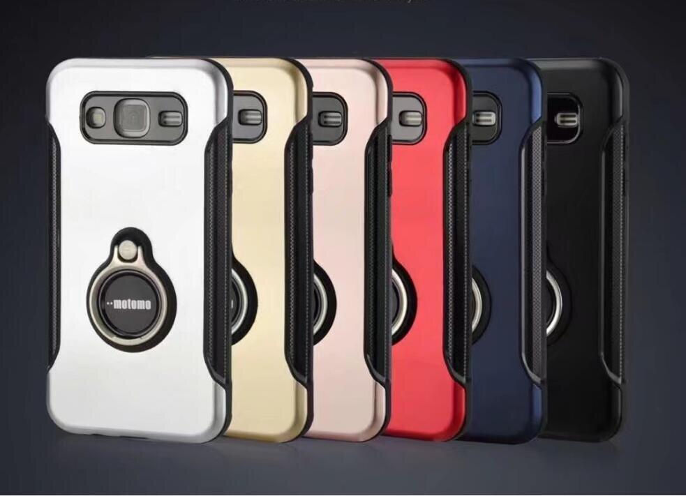 Motomo เคส  Samsung Galaxy J2 Prime / SM-G532 / G532 J2 Prime รุ่น Shining Series ชนิด ฝาหลังมีแหวน กันกระแทก  ด้านนอก แข็ง ด้านใน นิ่ม  ตั้ั้งไม่ได้ สีดำ