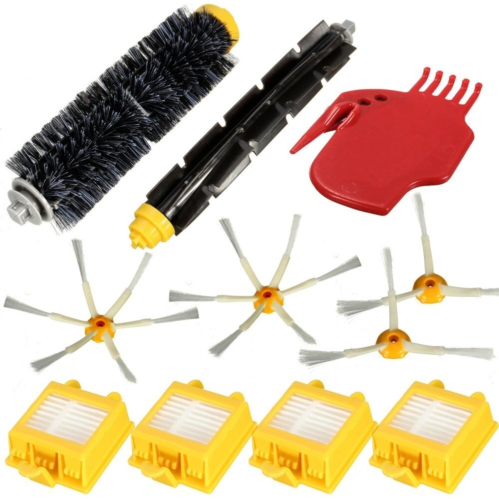 11Pcs Vacuum Cleaner Filters Brush Pack Kit iRobot Roomba 700 Series 760 to 790